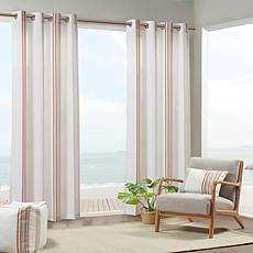 "Print Stripe 3M Scotchgard Curtain Coral/White 54""x84"""