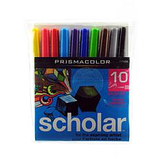 Prismacolor Brush Tip Scholar Markers - Set of 10