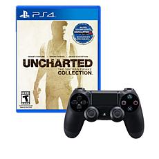 PS4 Wireless DualShock 4 Controller w/Uncharted 4 Game