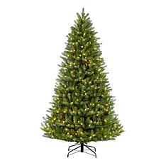 Puleo 7-1/2 ft. Pre-Lit Green Mountain Fir Artificial Christmas Tree