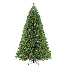 Puleo 9 ft. Noble Fir Artificial Christmas Tree w/1000 Clear Lights