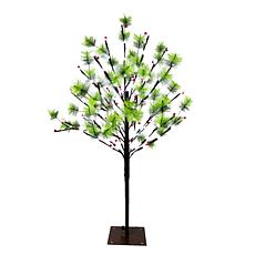 Puleo International 3' Red Berry Led  Tree w/120 White Twinkle Light