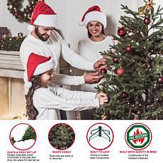 Puleo International 7.5' 700Light Artificial Pine Christmas Tree Green