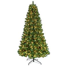 Puleo International 7.5' Pre-Lit Nebraska Pine  Tree