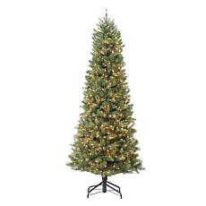Puleo International 7.5' Pre-Lit Slim Miracle Shape Tree w/800 Lights