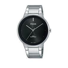 Pulsar Men's Black Dial Stainless Steel Bracelet Watch