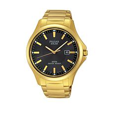 Pulsar Men's Solar Goldtone Stainless Steel Bracelet Watch
