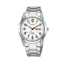 Pulsar Men's Stainless Steel Railroad Watch
