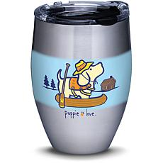 Puppie Love Canoe 12 oz Stainless Steel Tumbler with lid