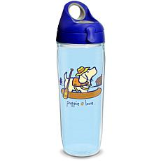 Puppie Love Canoe 24 oz Water Bottle with lid