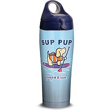 Puppie Love Sup Pup 24 oz Stainless Steel Water Bottle with lid