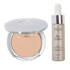 PUR 4-in-1 Mineral Foundation with No Filter Primer - Blush Medium