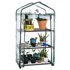 Pure Garden 3-Tier Mini Greenhouse with 3 Shelves