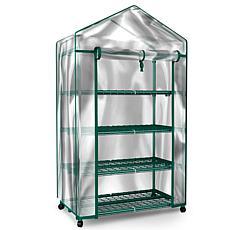 Pure Garden 4-Tier Mini Greenhouse Indoor/Outdoor Portable Shelves