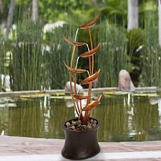 Pure Garden Modern Electric Outdoor 7-Tier Cascading Fountain