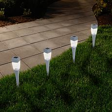 Pure Garden Solar Modern LED Pathway Lights Set of 24