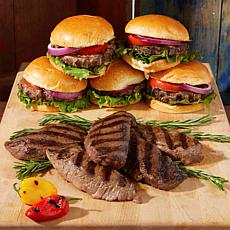 Pureland Meat Co Angus Beef Steak and Burger 18-count Combo Pack