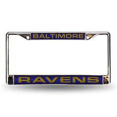 Purple Chrome License Plate Frame - Baltimore Ravens