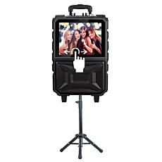 "QFX 8"" Portable Touch Screen Karaoke Speaker System with Bluetooth"