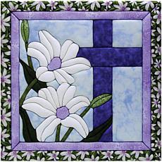 "Quilt Magic No Sew Wall Hanging Kit - 12"" x 12"" Cross"