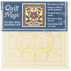 Quilt Magic No-Sew Wall Hanging Kit - Christmas Poinsettia