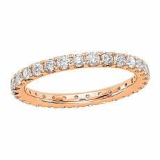 Radiant Fire 14K Gold 1ctw Lab-Grown Diamond Round Eternity Band