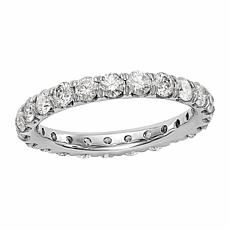 Radiant Fire 14K Gold 2ctw Lab-Grown Diamond Round Eternity Band