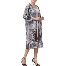 Raj Mila Medallion Embroidered Duster