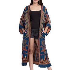 Raj Tori Thickstitch Embroidered Duster