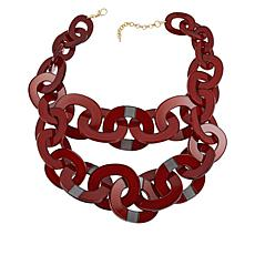 "Rara Avis by Iris Apfel 23"" Resin Oval 2-Row Necklace"
