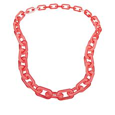 "Rara Avis by Iris Apfel 36"" Resin Chain Link Necklace"