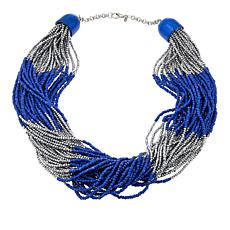 "Rara Avis by Iris Apfel Colored and Metal-Color Bead 29"" Necklace"