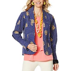 Rara Avis by Iris Apfel Embroidered Print Jacket