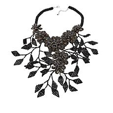 Rara Avis by Iris Apfel Flower and Branch Bib Necklace