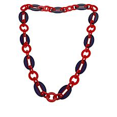Rara Avis by Iris Apfel Long Bi-Color Round and Oval Link Necklace