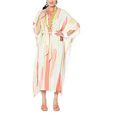 Rara Avis by Iris Apfel Long Printed Caftan