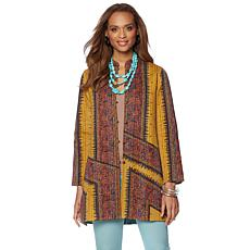 Rara Avis by Iris Apfel Mixed Pattern Quilted Coat