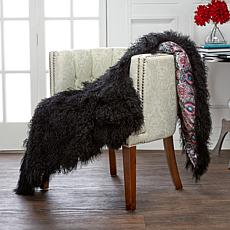 Rara Avis by Iris Apfel Mongolian Fur Throw