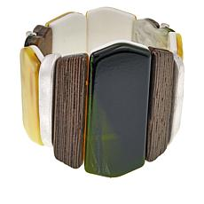 Rara Avis by Iris Apfel Multicolor Resin Stretch Bracelet