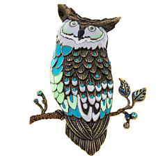 Rara Avis by Iris Apfel Owl-on-Branch Brooch