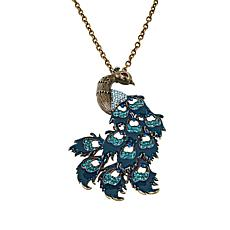 Rara Avis by Iris Apfel Peacock Pin/Pendant with Chain
