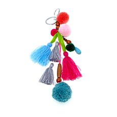 Rara Avis by Iris Apfel Pom-Pom and Tassel Key Fob