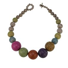"Rara Avis by Iris Apfel Recycled Paper Bead 28"" Short Necklace"