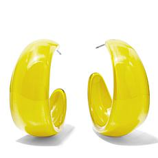 Rara Avis by Iris Apfel Smooth Resin Hoop Earrings