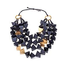 Rara Avis Pyramid Bead 4-Row Necklace