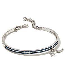 "Rarities 0.5ctw White and Blue Diamond ""Moon"" Bracelet"