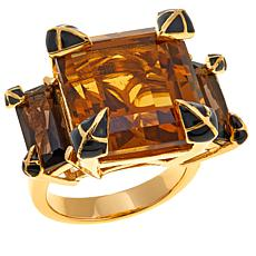 Rarities 15.5ctw Whiskey and Smoky Quartz Ring