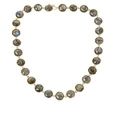 """Rarities 18"""" Gold-Plated Labradorite Round Station Necklace"""