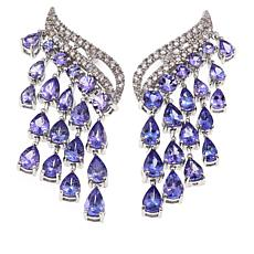 Rarities 8.29ct Tanzanite & Zircon Winged Drop Earrings