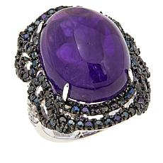 Rarities Amethyst Cabochon and Gem Ring